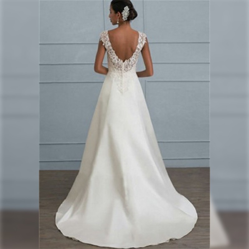 Wedding White Party Dress Women Summer 2019 Plus Size Elegant Lace Dress Sexy Ladies Backless Tunic Evening Long Dress For Women in Dresses from Women 39 s Clothing