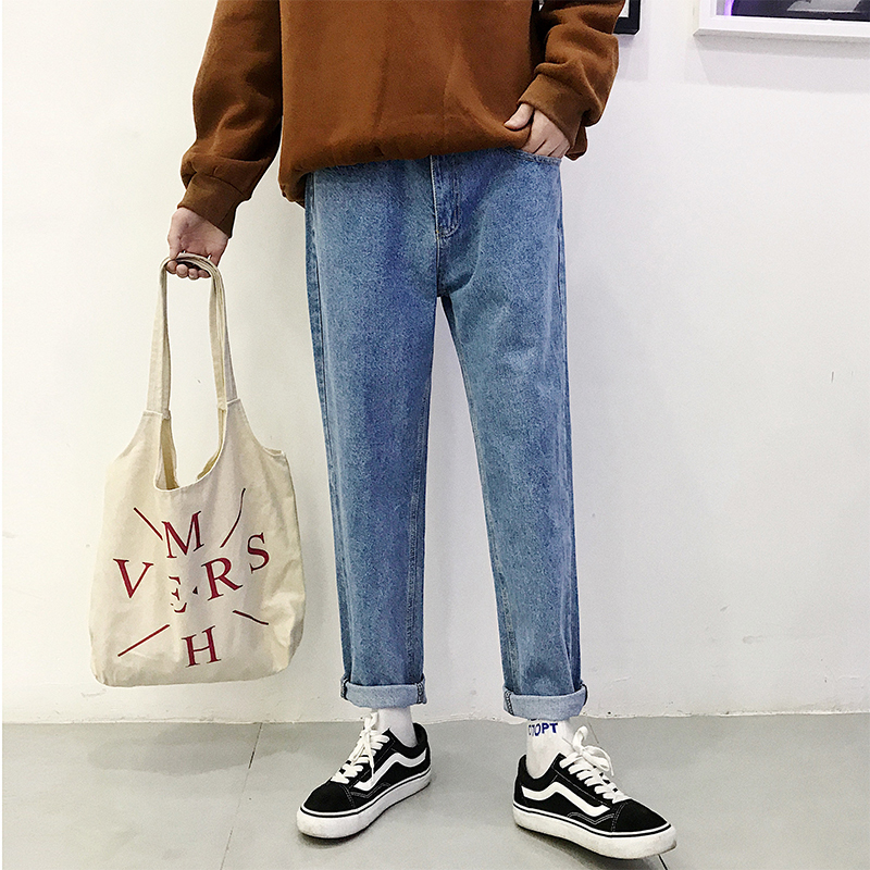 2019 baggy homme Jeans men Trousers Male Leisure Time Pants mens clothing Free shipping in Jeans from Men 39 s Clothing
