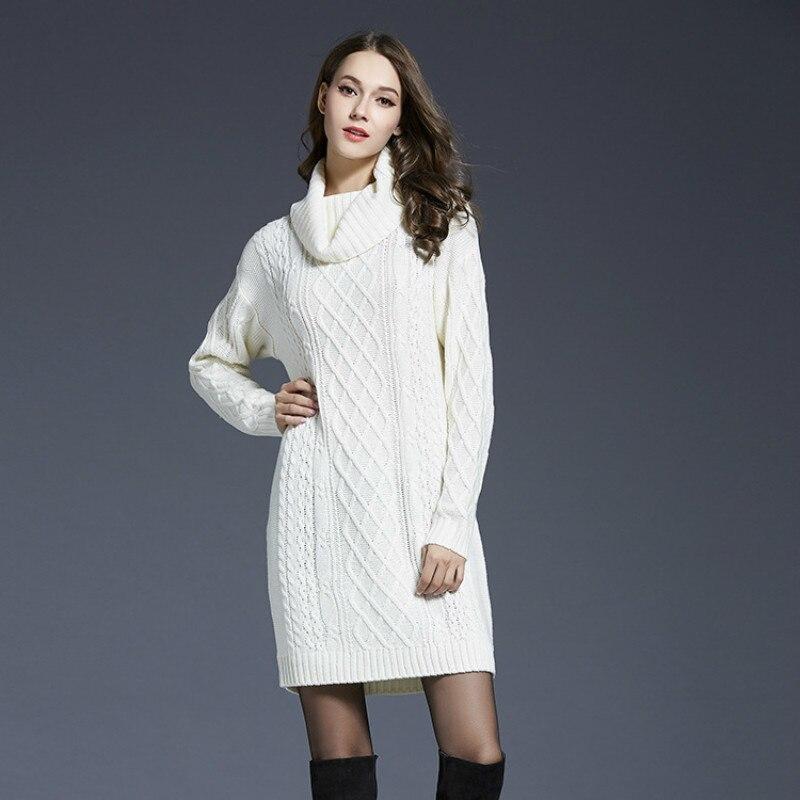 для беременных вязаный свитер платье женская одежда 2018 осень зима