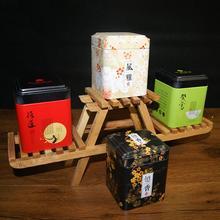 Мини жестяная коробка для хранения небольших Кофе Чай Caddy хранения банки в бутылках герметичный Чай листы железа упаковочная коробка Китайский Стиль контейнер банок