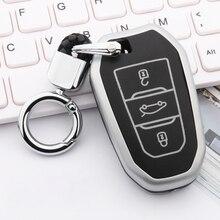 Zinc alloy+Luminous Car Remote Key Case Cover For Peugeot 3008 5008 208 307 308 508 2008 4008 Protector Cover Holder Accessories 3 button remote fob protector silicone key case cover for peugeot 508 408 308 208 2008 3008 4008 rcz