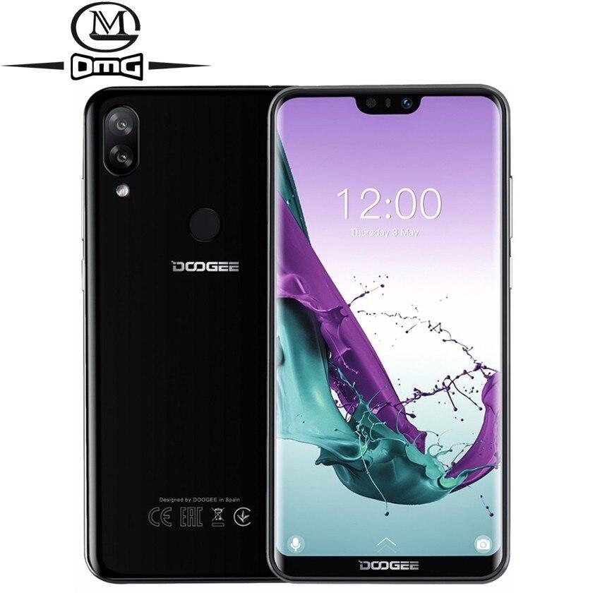 DOOGEE N10 Android 8.1 téléphone portable 16.0MP empreinte digitale octa-core 3 GB + 32 GB téléphones cellulaires 5.84 pouces 19:9 3360 mAh 4G LTE Smartphone