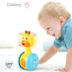 Новая детская игрушка мультяшный Жираф неваляшка Roly-poly детская игрушка милая погремушка колокольчик Неваляшка