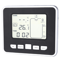 Ultrasonic Water Tank Indicator Liquid Depth Level Meter Sensor with Temperature Display Time Alarm Transmitter Measuring Tools