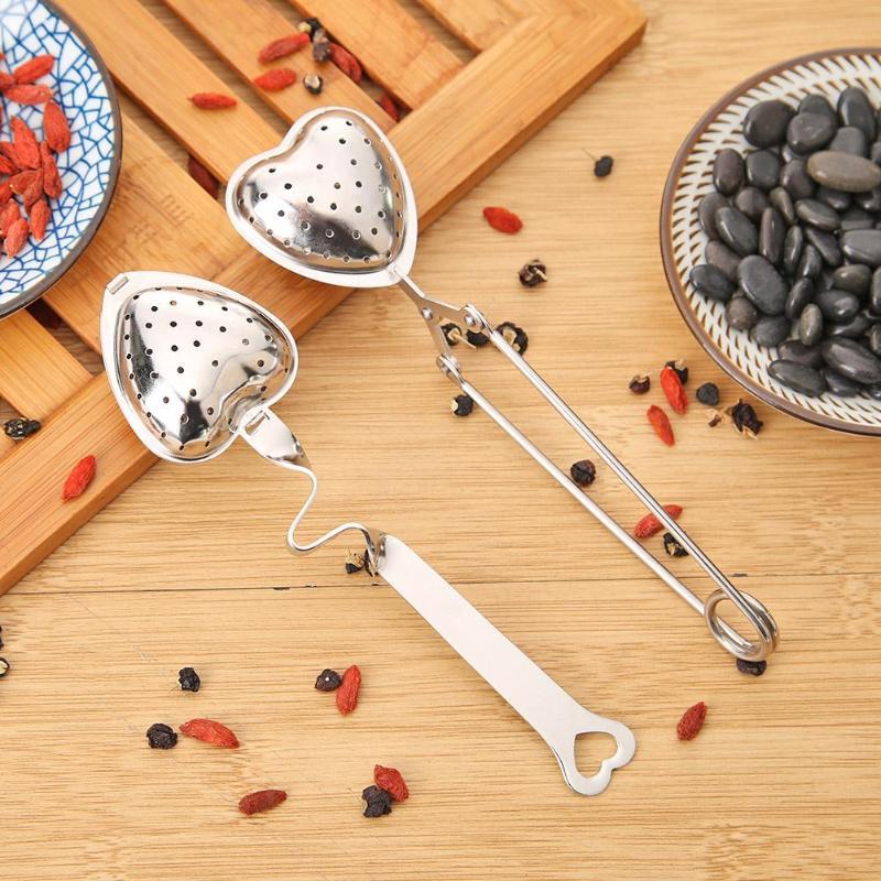 Stainless Steel Teapot Tea Strainer Heart Duck Mesh Tea Infuser Filter Reusable Metal Tea Bag Spice Tea Tool Bar Accessories