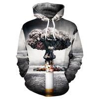 male hoodies Cigarette 3D digital printing men and women sweatshirt sports baseball uniform