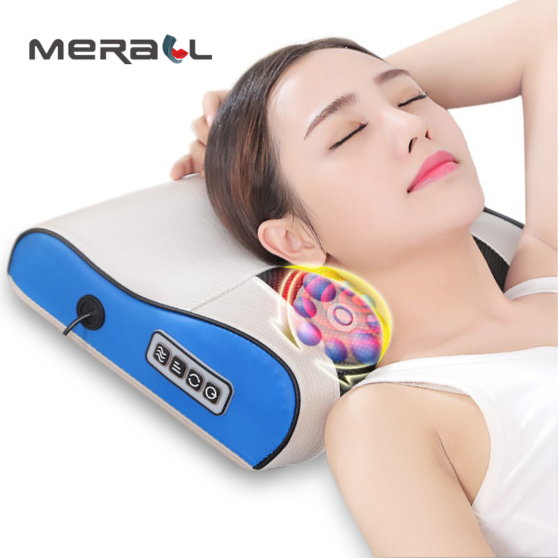 Massage Pillow Infrared Heating Neck Shoulder Back Body Multifunctional Cervical Health Care Muscle Stimulator Massageador ToolMassage Pillow Infrared Heating Neck Shoulder Back Body Multifunctional Cervical Health Care Muscle Stimulator Massageador Tool