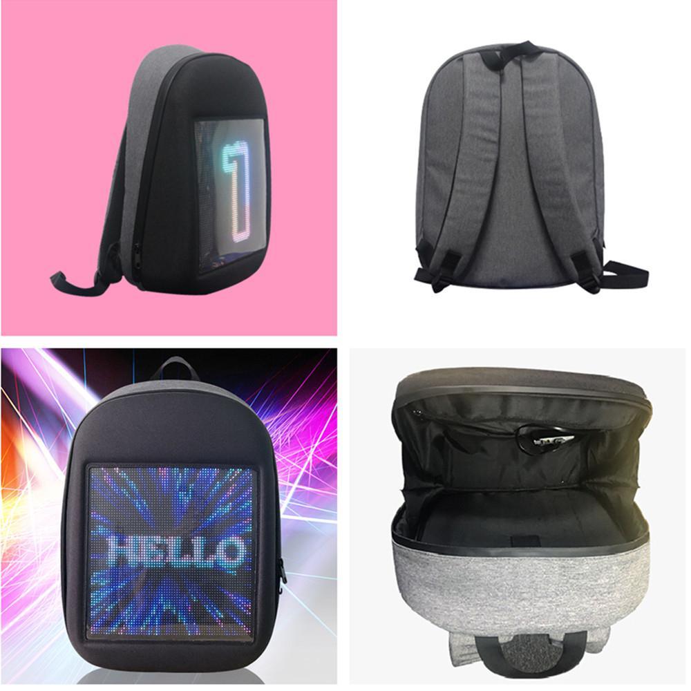 AKDSteel écran affichage LED sac à dos bricolage sans fil Wifi APP contrôle publicité sac à dos en plein air LED marche panneau d'affichage sac à dos - 6