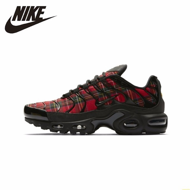 Nike Air Max Plus Tn Se New Arrival Woman Running Shoes Air Cushion Shoes Scotland Red Lattice Outdoor Sneakers #AV9955-001