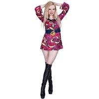 be9984378cec0 Woman Flower Power 60s 70s Costume Disco Retro Groovy Girl Dance Fancy Dress