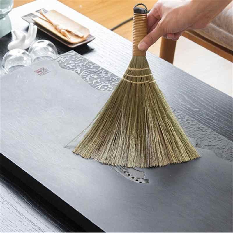 מטאטא עץ רך פרווה רצפה גורפת מטאטא מנקה שולחן עבודה ספה ניקוי כלי רצפת אבק אספן ניקוי ביתי מברשת