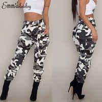 Femmes Camo Cargo pantalons pantalons décontractés armée militaire Combat Camouflage Jeans