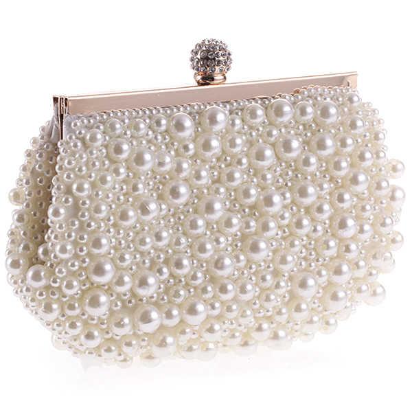 TFTP-вечерняя свадебная сумочка-клатч сумка с жемчугом платье сумка для ужина маленький кошелек сумка для невесты белый