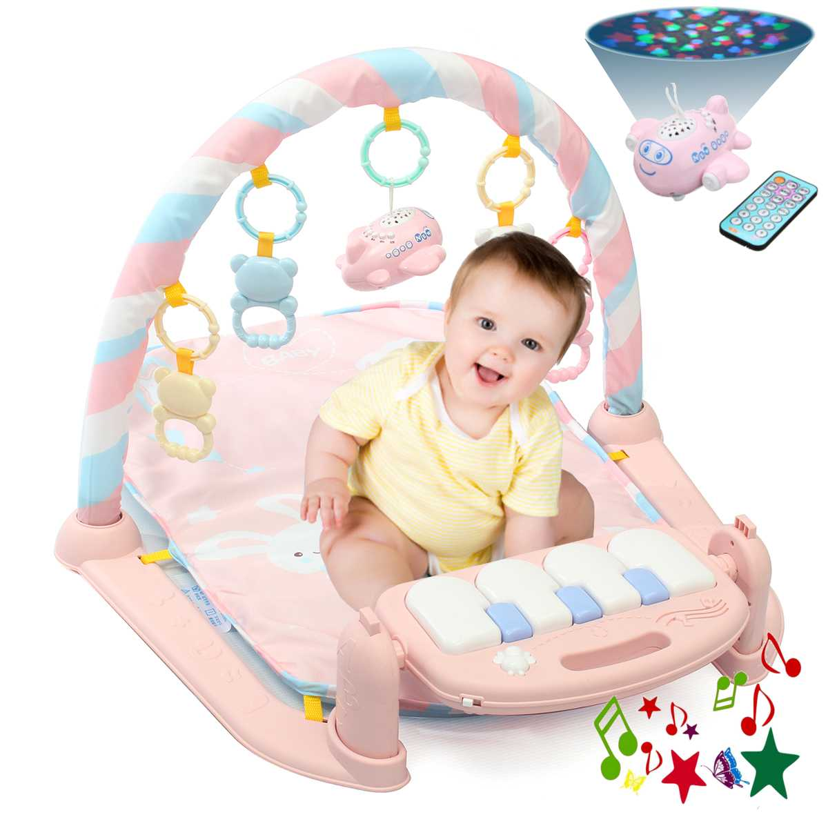Baby Play Mat Gym 3 in1 Newborn Infant Baby Musical Piano Play Mat Blanket Kids Activity CarpetBaby Play Mat Gym 3 in1 Newborn Infant Baby Musical Piano Play Mat Blanket Kids Activity Carpet