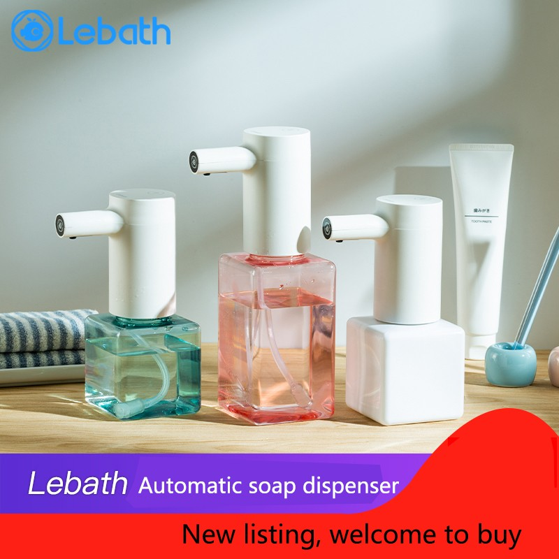 Lebath Infrared Sensor Automatic Soap Dispenser Handheld Contactless Disinfectant Bathroom Dispenser Smart Rechargeable Washer