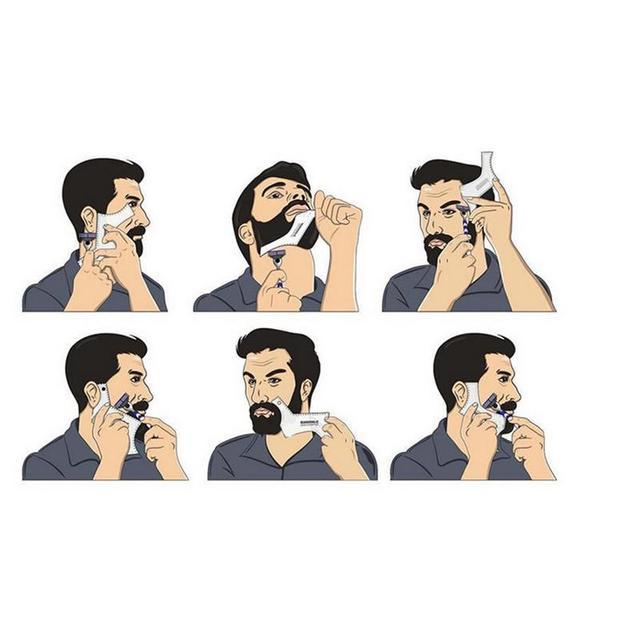Plantilla de diseño de barba para hombre multifunción de belleza 4