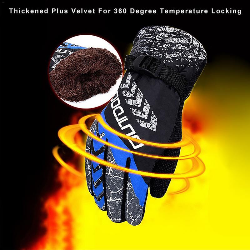 Winter Ski Gloves Adult Waterproof Warm Gloves Snow Windproof Skiing Snowboard Gloves