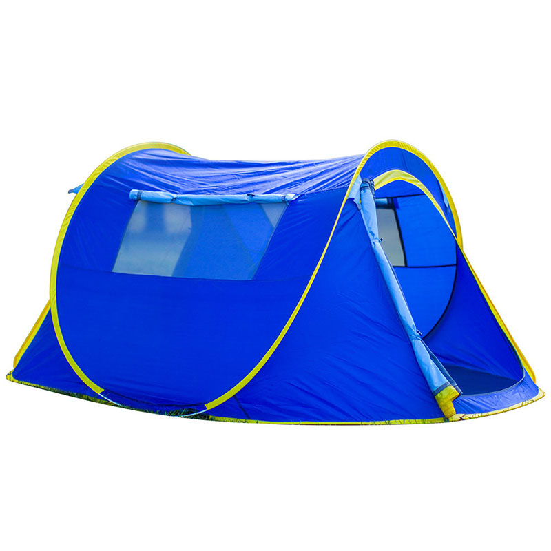 HUILINGYANG Outdoor Camping Tent Single-layer Quick Open Tabernacle Waterproof Durable Fiberglass Skeleton Breathable Tent otomatik çadır