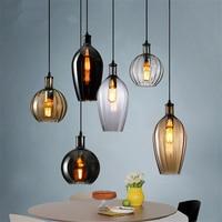 Modern Restaurant chandelier lighting Bar Pendant lamps Lights Dining Room Kitchen Cafe Retro Glass Luster Hanging Lamps Fixture