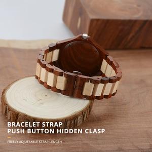 Image 4 - 나무 애호가 커플 시계 럭셔리 듀얼 시계 달력과 연인 친구를위한 선물로 빛나는 두 시계 bewell 100bc