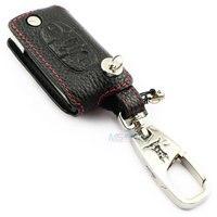 Genuine Leather Car Key case for Citroen 3 buttons C4 Picasso C5 C Quatre C6 C Triumph key cover keyring auto accessories ADDAN