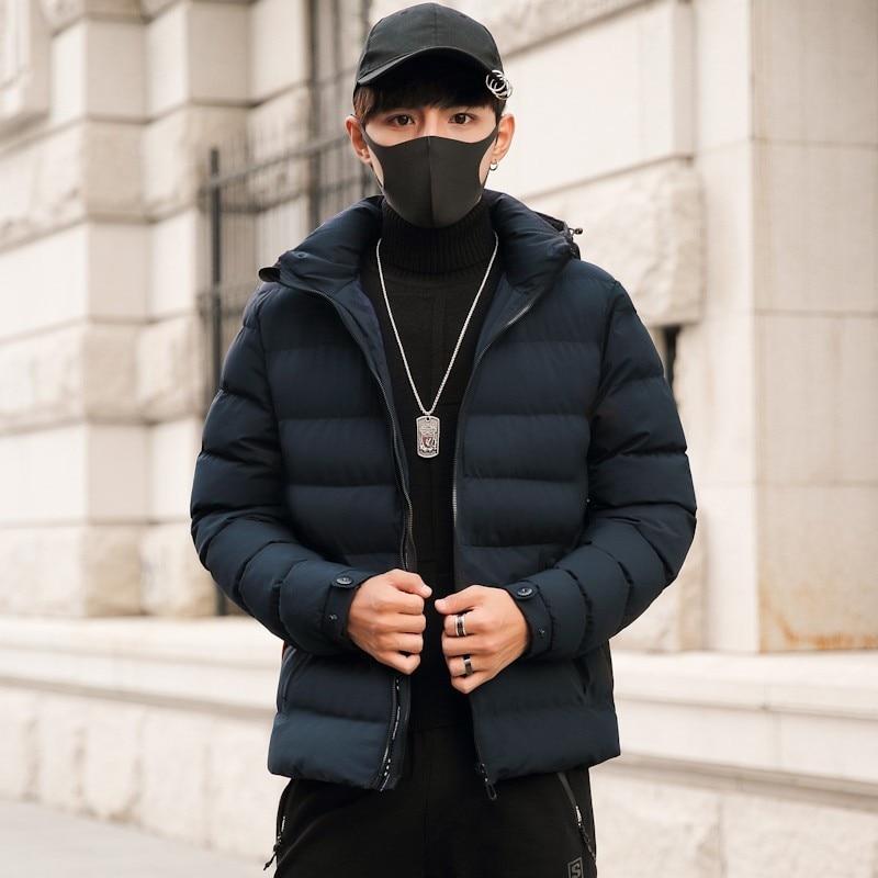 Manteau Thermique Vers Veste Marque Le De Capuchon Hoodies bleu Big À Chaud Noir Hommes Bas Parka Mode Male D'hiver Plus Taille 7xl Casual Vêtements Coton 8xl A5R3Ljq4