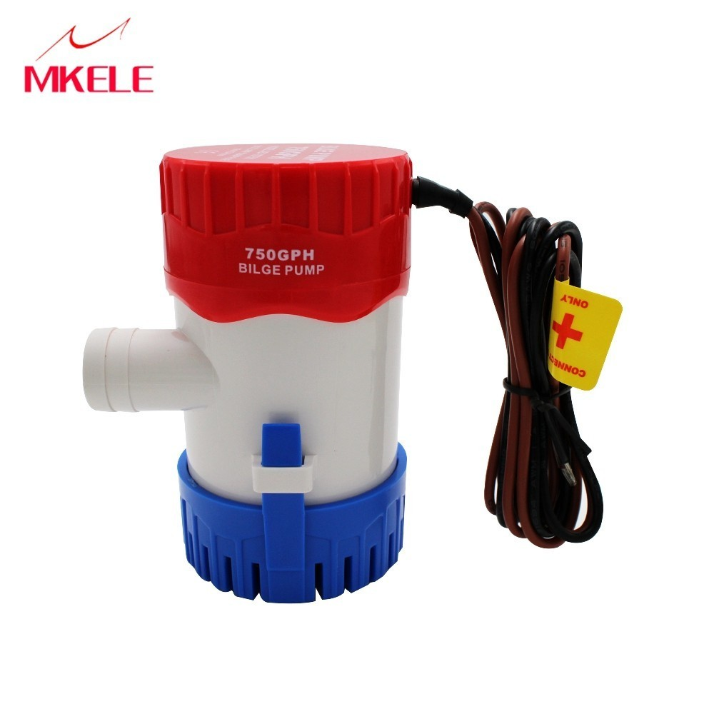 Hot Sale MKBP-G750-12 12V 750GPH Submersible Mini Electric Bilge Water Pump With Float Switch