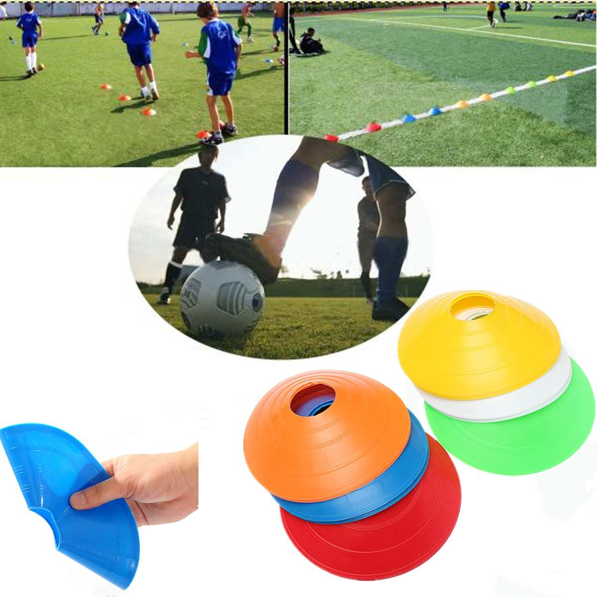 10pcs/lot  Outdoor Sport Football Training Disc Cones Track Space Marker Inline Skating Cross Speed Training
