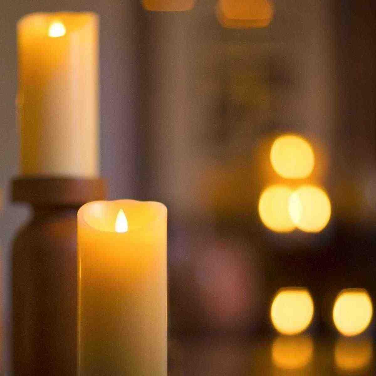 3 cái/bộ Luminara Ngà Flameless Candle Moving Wick Mô Phỏng Ngọn Nến Nến Đèn Đám Cưới Bên Trang Trí Nhà Sinh Nhật