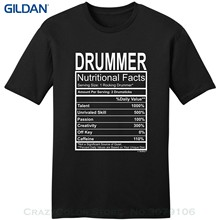 1e5f032634 Men T Shirt 2019 Summer 100% Cotton Drummer Gift Nutritional Facts Gag  Gifts Funny Young