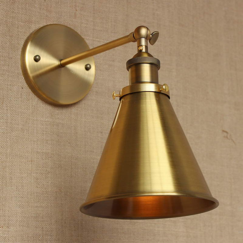Wall Lamp Lighting Gold Metal