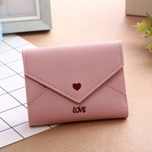 European And American Explosion Models Short Wallet Female Buckle Student Embroidery Mini Coin Purse