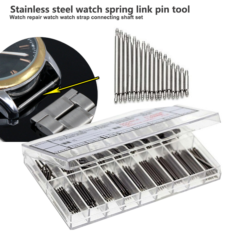 Stainless Steel Watch Spring Connecting Rod Pin Tool Repair Strap Durable Bracelet Strap 8-25mm Repair Kit 8pcs/10pcs/12pcs