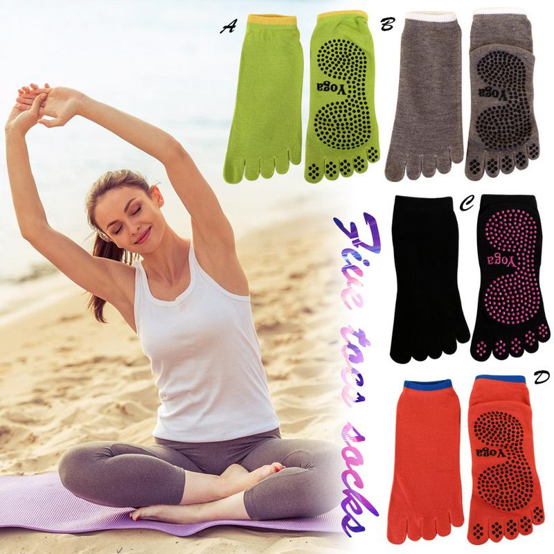@1  Профессиональная йога без скольжения пять пальцев носки танец пять пальцев хлопчатобумажные носки йо ★