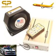 Alarm Sound Warning Police Siren Speaker 400W Megaphone USB MP3 12V for Car Emergency Ambulance SUV VW Train Truck MIC Pa System