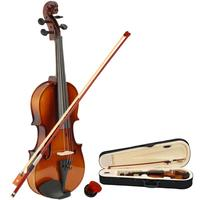 1/2 Size Natural Color Basswood Acoustic Violin Fiddle with Case Bow Rosin for Violin Beginners Children Age 7 9 Gift