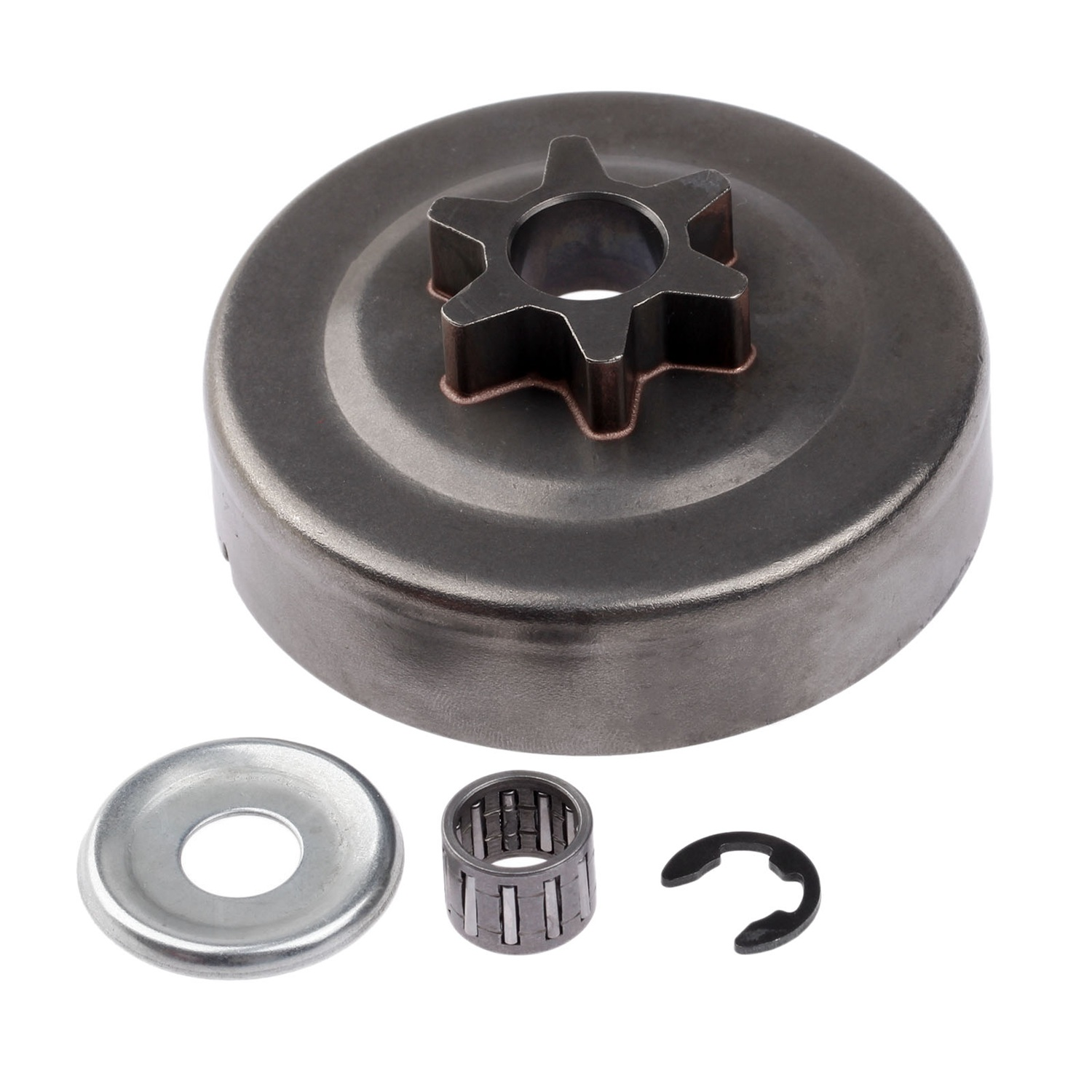 Promotion! 3/8 6T Clutch Drum Sprocket Washer E-Clip Kit For Stihl Chainsaw 017 018 021 023 025 Ms170 Ms180 Ms210 Ms230 Ms250
