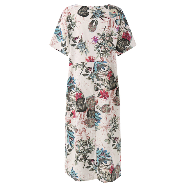 Women's Vintage Floral Printed Dress