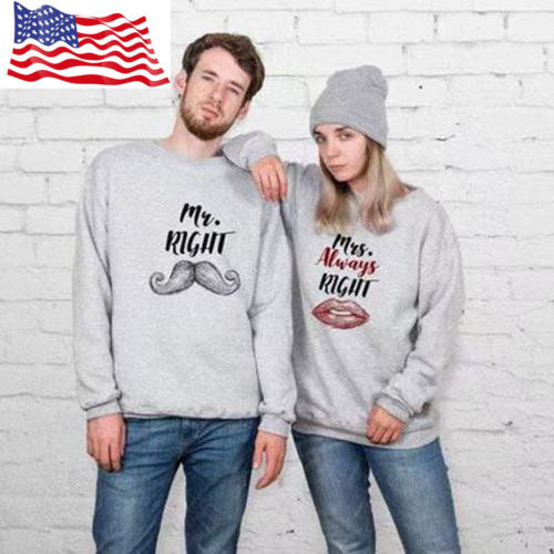 6f939d7975 Fashion Mrs Always Right Lover Couple Matching Hoodie Jumper Tops Sweatshirt  new