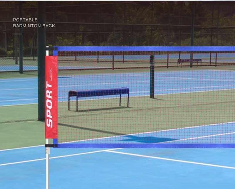 3-6M Portable Standard Badminton Net Professional Badminton Training Square Mesh Tennis Badminton Square Net Shuttlecock Network