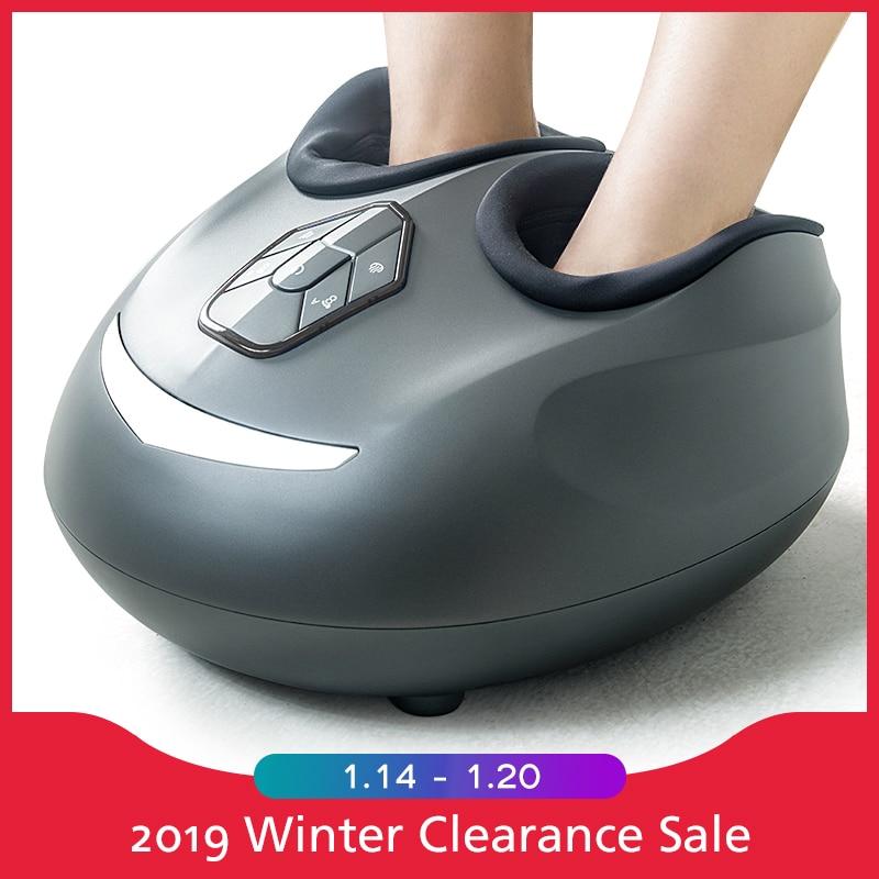 Электрический массажер для ног ролик с нагревом машина массаж шиацу вибрации компрессионный Инфракрасный нагревательный забота о здоровь...