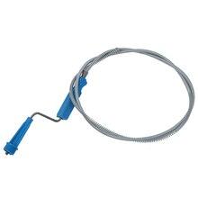Мягкая спиральная труба стальной шкаф канализационный очиститель 1,3 м длинный унитаз шнек