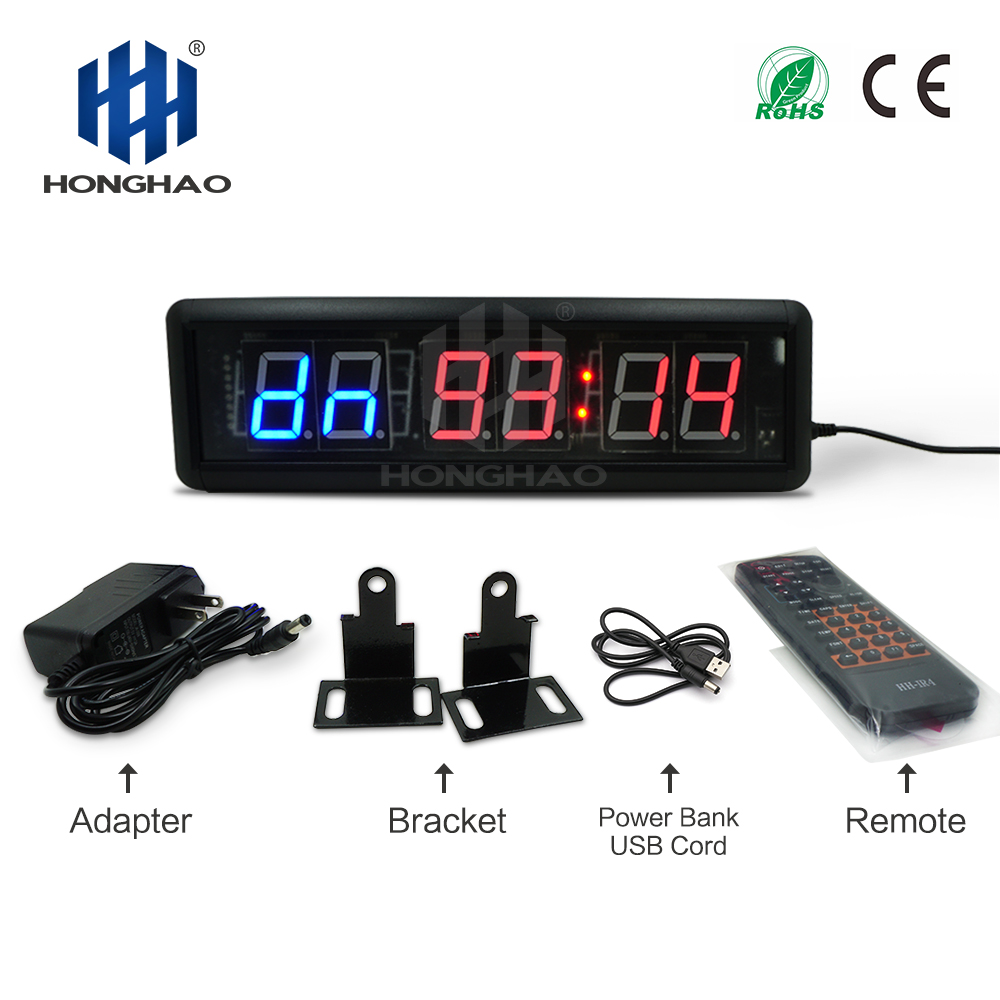 Frees Shipping GYM new tabata interval programmable timer countdown stopwatch Honghao remoteFrees Shipping GYM new tabata interval programmable timer countdown stopwatch Honghao remote