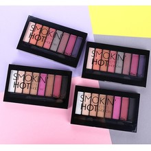 Blueness 8 Colors Eye Shadow Palette Professional Waterproof Pressed Powder Matte Glitter Makeup Eyeshadow