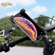 KISSCASE Bike Phone Holder For iPhone Samsung Universal Mobile Cell Bicycle Handlebar Clip Stand GPS Bracket