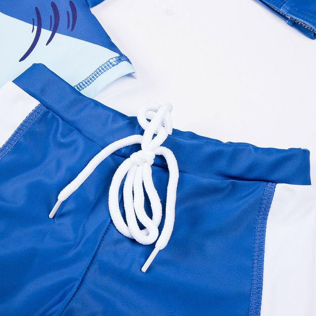 3Pcs Swimwear Kids Boy Swimming Costume Boy Swimsuit Kids Rash Guard Surfing Costume Beachwear Boys Clothes Set Bathing Suit