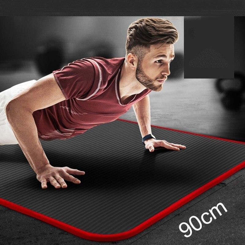 15mm Hommes de fitness tapis pour débutant yoga tapis élargir rallongent anti-glisser tapis d'exercice NBR élargissement 90 cm anti-patinage sport yoga pad