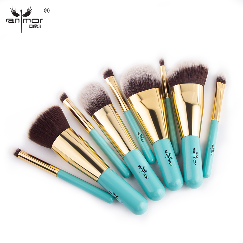 Anmor Hot Sale Make Up Brushes Set Travel Size Brush For Make up Beauty Eyebrow Eyeshadow Foundation Cleaner Pinceaux MaquillageAnmor Hot Sale Make Up Brushes Set Travel Size Brush For Make up Beauty Eyebrow Eyeshadow Foundation Cleaner Pinceaux Maquillage