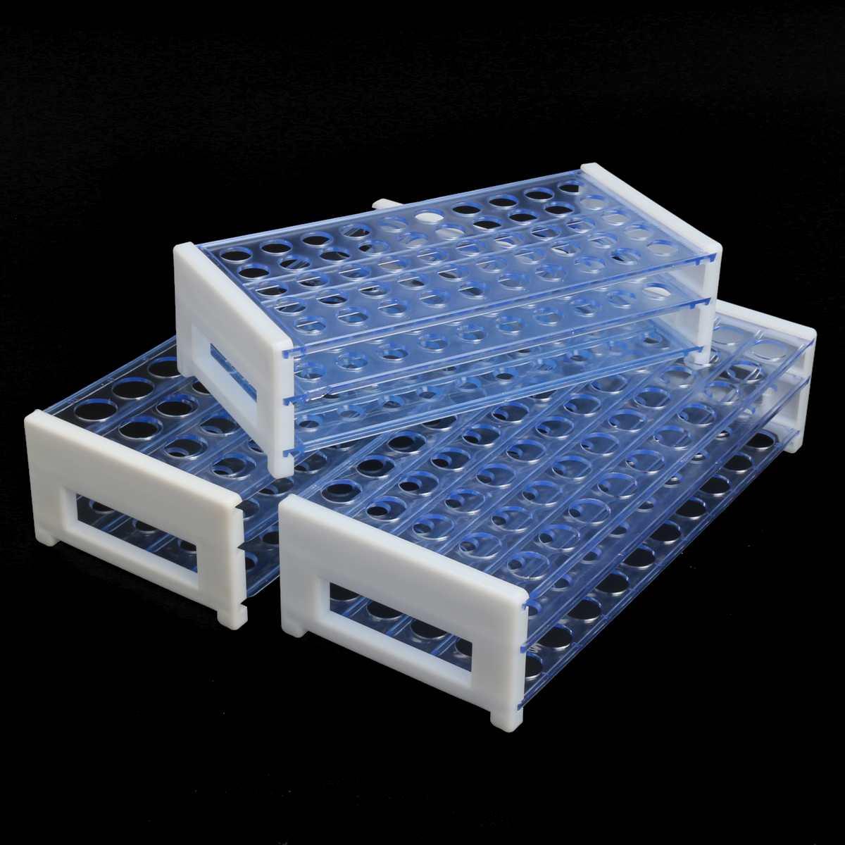 13/16/18mm Clear Plastic 3 Layers Lab Test Tube Storage Rack Centrifugal Test Tubing Rack Holder School Lab Equipment 40/50 Hole