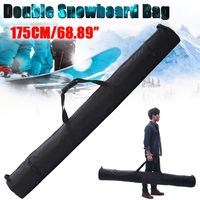 175cm/69 Inch Snowboard Skiing Bag for Double Snowboard in Polyester Sport Snowboard Bag Ski Bag Snowboard Bag